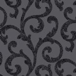 Glitterati Scroll Black Wallpaper 892400 By Arthouse For Options